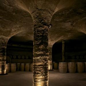 La barricaia di Tenuta di Castellaro è stata realizzata secondo il principio dell'architettura vernacolare.