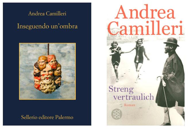 Due celebri copertine dei romanzi dello scrittore Andrea Camilleri.